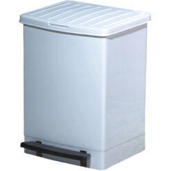 Kosz na śmieci 25 litrów biały