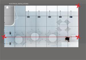 Załącznik 4 Wizualizacja stoiska B stoisko Flesz- intalacja elektryczna i punkty podwieszenia bannera