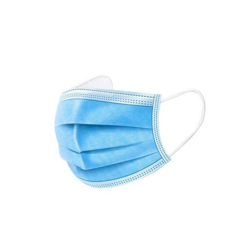 Maska medyczka 3 warstwowa niebieska